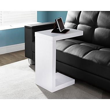 Monarch Hollow-Core Side/Accent Table, White