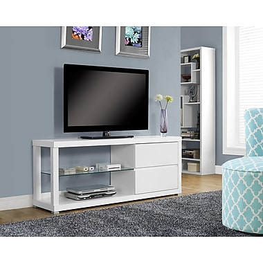 Monarch Hollow-Core TV Console/Tempered Glass 60