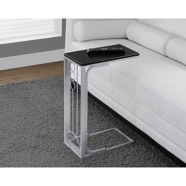 Monarch Accent Table, Black/Silver