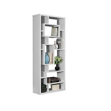 Monarch – Bibliothèque Hollow Core, d'une hauteur de 72 po, blanc