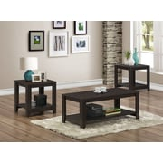 Monarch 3-Piece Table Set, Cappuccino (I 7990P)