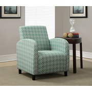 """Monarch """"Angled Kaleidoscope"""" Pattern Fabric  Accent Chairs"""