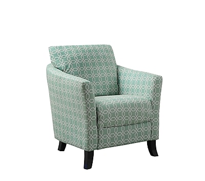 Monarch Specialties Inc. I 8003 Fabric Accent Chair, Faded Green