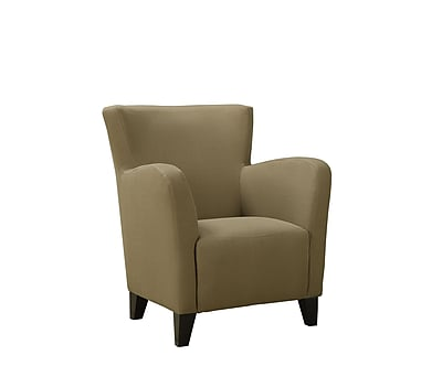 Monarch Specialties Inc. I 8066 Linen Fabric Club Chair, Brown