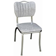 Richardson Seating Retro Home Side Chair; Cracked Ice Grey