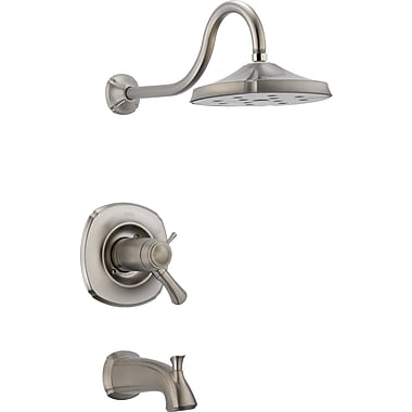 Delta Addison Diverter Tub and Shower Faucet Trim w/ Lever Handles; Stainless