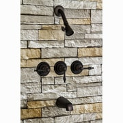 Kingston Brass Magellan Tub and Shower Faucet; Oil Rubbed Bronze