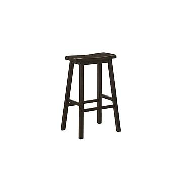 Monarch – Tabourets à siège en selle, hauteur de 29 po, cappuccino, paq./2
