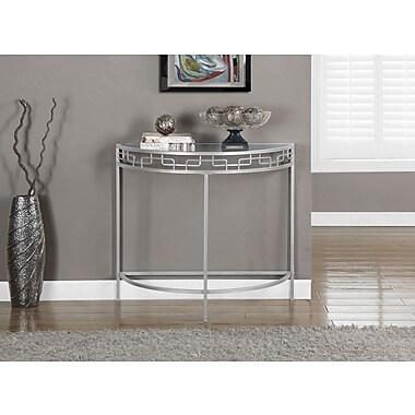 Monarch – Table console de 36 po long. d'entrée/d'appoint, argenté