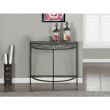 Monarch – Table console de 36 po long. d'entrée/d'appoint, gris charbon