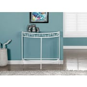 "Monarch Metal 36""L Accent Table, White"
