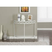 "Monarch 36""L Hall Console Side/Accent Table, Metal, White"