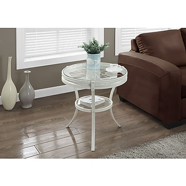 Monarch Side/Accent Table with Tempered Glass, 20