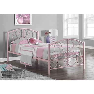 Monarch Cadre De Lit Double En Metal Rose Staples