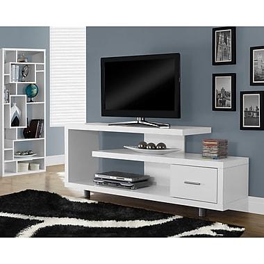 Monarch - Téléviseur-console à âme creuse, 60 po de long., blanc