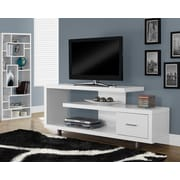 "Monarch Hollow-Core TV Console, 60""L, White"