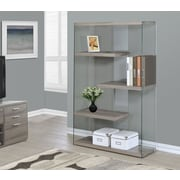 Monarch Reclaimed Look Tempered Glass Bookcase