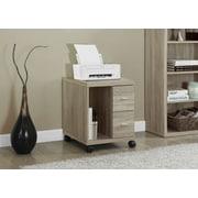 Monarch – Support d'ordinateur sur roulettes, 2 tiroirs, fini bois récupéré naturel