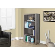 "Monarch Reclaimed-Look Bookcase/Adjustment Shelves, 48""H, Dark Taupe"