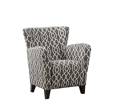 Monarch Specialties Inc. I 8078 Fabric Club Chair, Gray