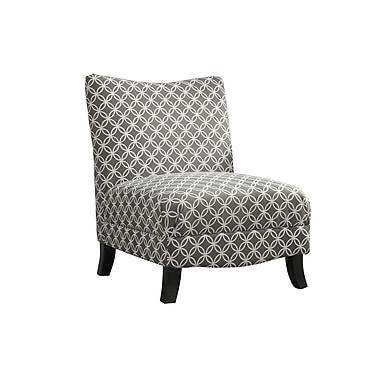 Monarch – Fauteuil d'appoint en tissu à motifs circulaires, gris