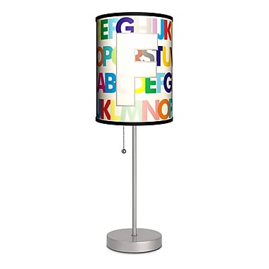 Lamp-In-A-Box Monograms Modern Letter 20'' Table Lamp; F