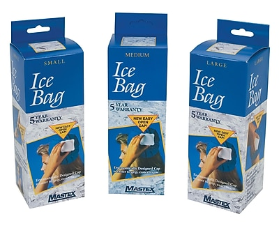Bilt-Rite Mutual, Ice Bags, Blue 6in, 4 pack (ICE06-4)