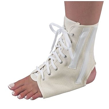 Bilt-Rite Mutual, Canvas Ankle Brace with Laces, White, Unisex, 2 pack (10-26000-MD-2)