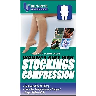 Mutual Industries Bilt-Rite Women's Knee High Stockings, 15-20 mmHg, Black, 2/Pack