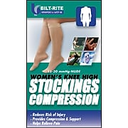 Bilt-Rite Mutual, Women's Knee High Stockings, 15 - 20 mmHg Natural, 2 pack (10-70000-LG-2)