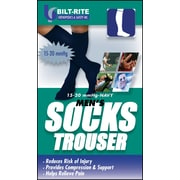 Mutual Industries Bilt-Rite Men's Trouser Socks, 15-20 mmHg, Navy, 2/Pack (10-71000)