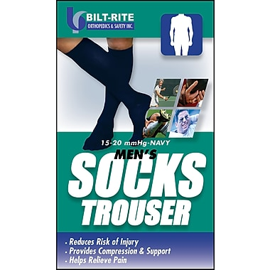 Bilt-Rite Mutual, Men's Trouser Socks, 15 - 20 mmHg Navy, 2 pack (10-72000-SM-2)
