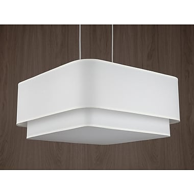 Lights Up! Blip 4-Light Pendant; Ebony Veneer