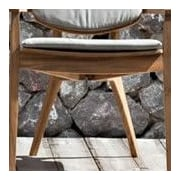 OASIQ Diuna Outdoor Dining Chair Cushion; Canvas Natural