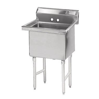 Advance Tabco Single Fabricated Bowl 1 Compartment Scullery Sink; 43'' H x 23'' W x 24'' D