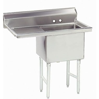 Advance Tabco Single Fabricated Bowl Scullery Sink; 38.5''