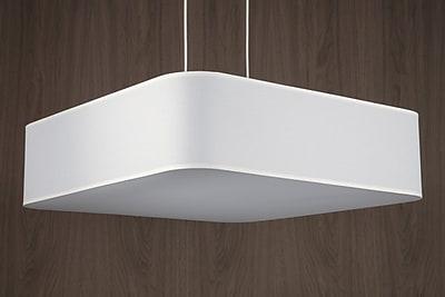 Lights Up! Blip 4-Light Pendant; Red Dupioni