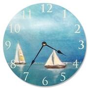 Stupell Industries 12'' Azure Breeze Sail Vanity Clock