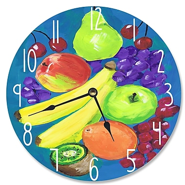 Stupell Industries 12'' Mixed Fruit Vanity Clock