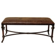 Selectives Leather Entryway Bench