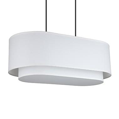 Lights Up! Blip 4-Light Pendant; White Oak Veneer