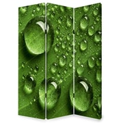 Screen Gems 72'' x 48'' Rain 3 Panel Room Divider