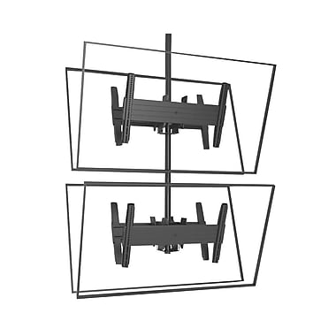 ChiefMD – Support de plafond dos à dos pour écrans superposés (MIL-CH-LCB1x2U), grand, 16,5 x 26,8 x 10,2 po, noir