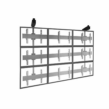 Chief® (MIL-CH-LCM3x3U) Micro Adjustable Large Ceiling Mounted 3 x 3 Video Wall Solutions, Black