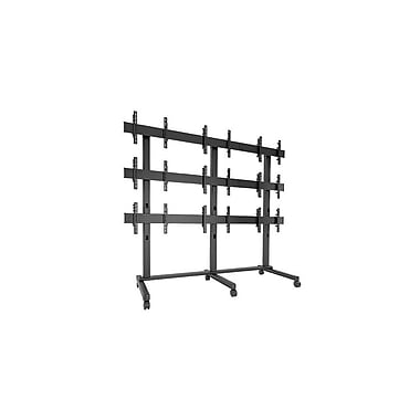 Chief® Fusion™ (MIL-CH-LVM3x3U) 3 x 3 Large Freestanding Video Wall Cart, 108