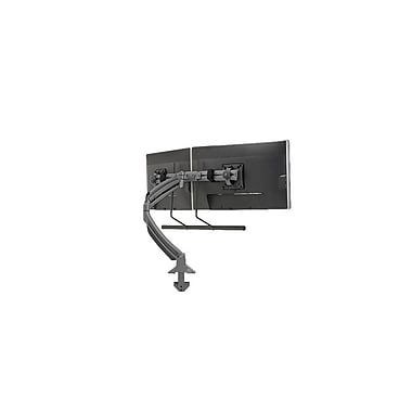 Chief® (MIL-CH-K1D22HB) Dynamic Desk Clamp Mount with Dual Monitor Array, Black