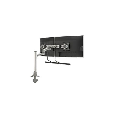 Chief® (MIL-CH-K2C22HS) Articulating Column Mount with Dual Monitor Array, Silver