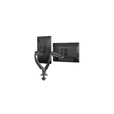 Chief® (MIL-CH-K1D220B) Dynamic Desk Clamp Mount with 2 Monitors, Black