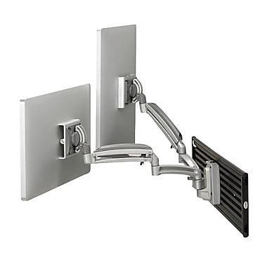 Chief® (MIL-CH-K1S220S) Dynamic Dual Monitor Slat wall Mount, Silver