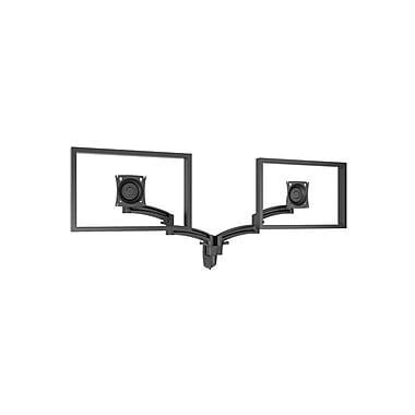ChiefMD – Bras-support mural pivotant double avec extension pour moniteur (MIL-CH-K2W220B), noir